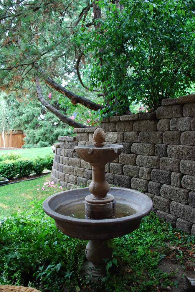 Inspiration for a traditional water fountain landscape in Boise.