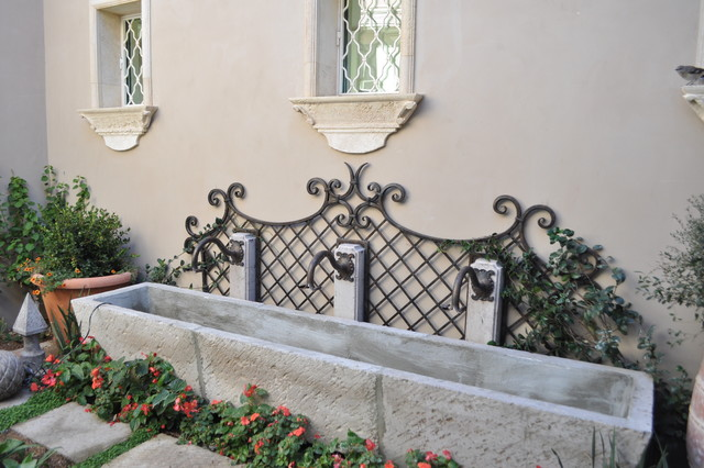 Fountain trellis and spouts and window grills for Garden fountains phoenix