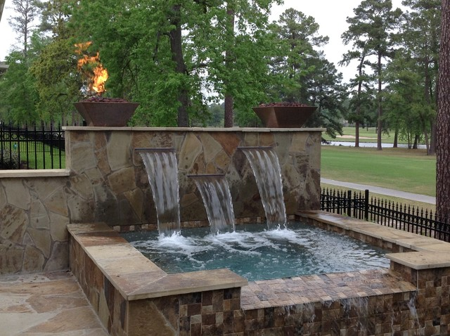 Fox pool and patio traditional-landscape