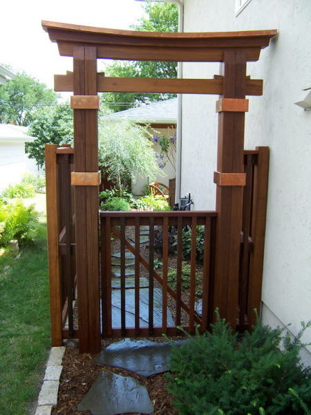 Frame for a garden asian minneapolis by garden for Japanese garden structures wood