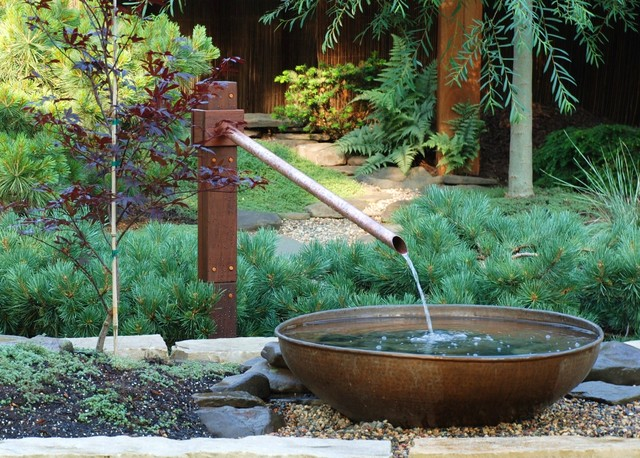 Frame for a garden asian landscape minneapolis by for Japanese water feature