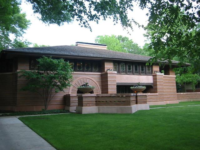 Frank Lloyd Wright Designed Home Craftsman Landscape