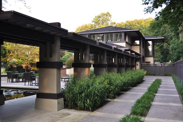 neueste trends Repliken neueste kaufen Frank Lloyd Wright Designed House - Craftsman - Landscape ...