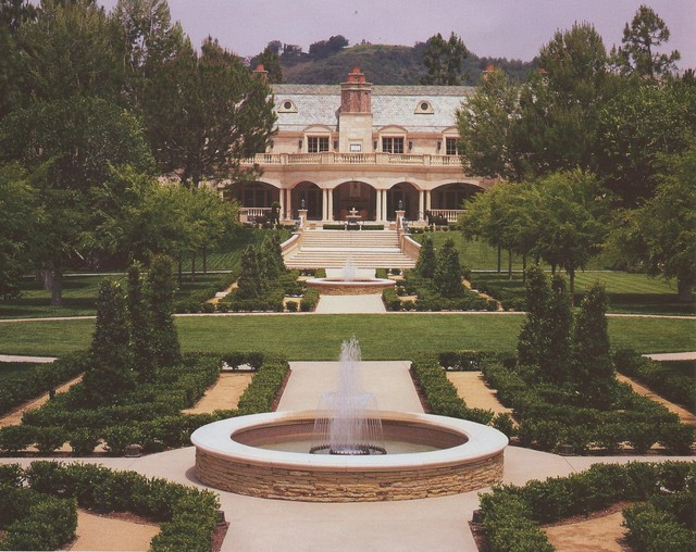 French Chateau- Beverly Park traditional-landscape