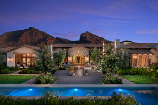 French Country Estate - Mediterranean - Landscape - Phoenix - by Higgins Architects
