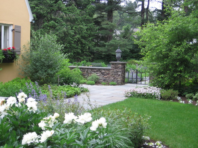 French country garden for Traditional landscape