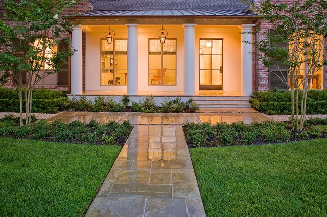 French country modern traditional landscape houston for Exterior design landscaping