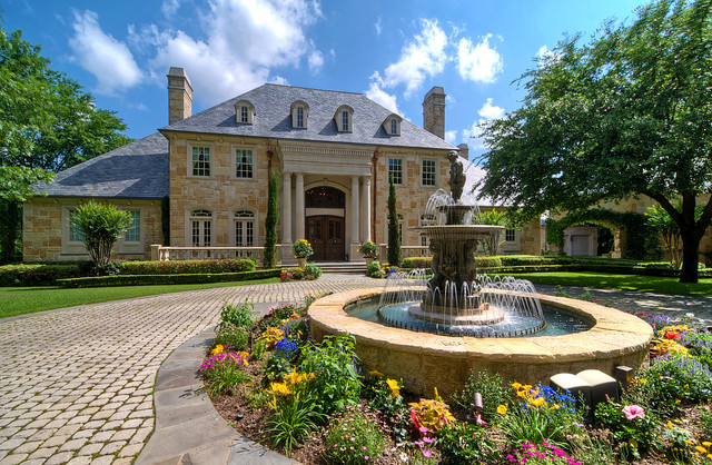 Luxury Estate Property - Traditional - Landscape - Dallas ... on Luxury Front Yard Landscape id=60035