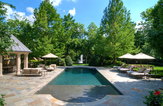 This Is An Example Of A Traditional Backyard Water Fountain Landscape In Dallas
