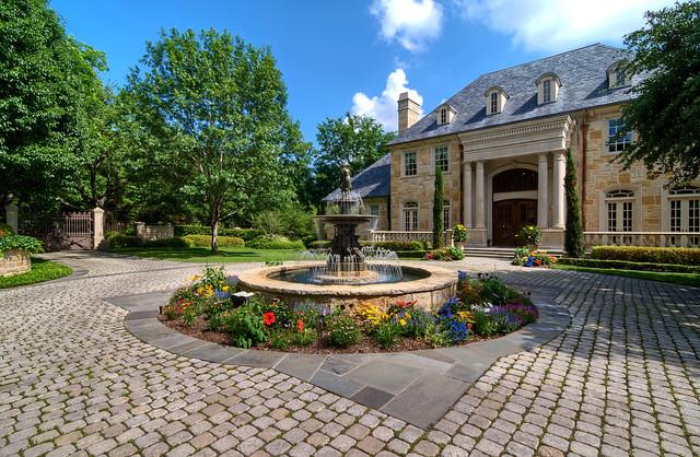 Luxury Estate Property - Traditional - Landscape - dallas ... on Luxury Front Yard Landscape id=23994