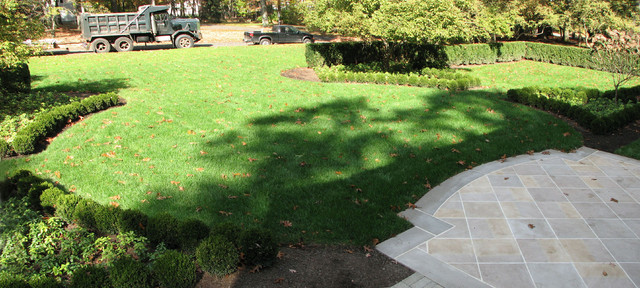 French inspired Boxwood Parterre Garden Traditional