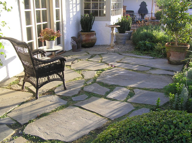 Stone Slate For Backyard french patio & slate stepping stones and garden walk with trellis