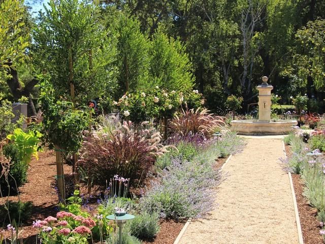 French style garden for Mediterranean style garden design ideas