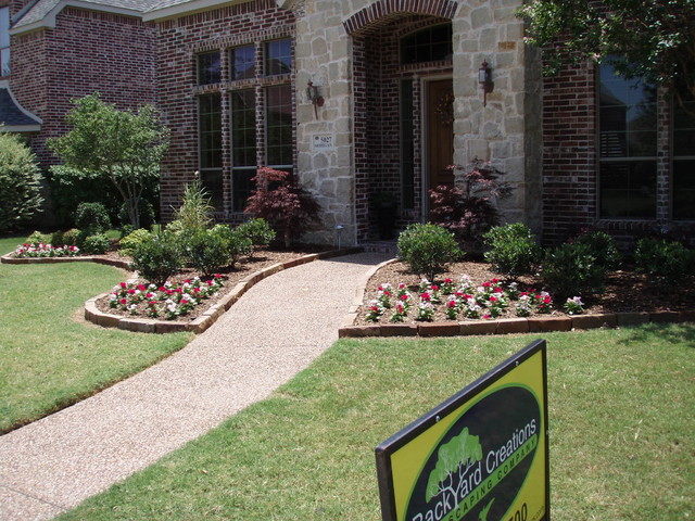 Frisco Front Yard Landscaping American Traditional Garden Dallas By Backyard Creations Llc