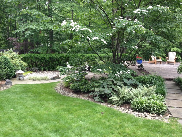 Front and Back Tenafly Project traditional-landscape