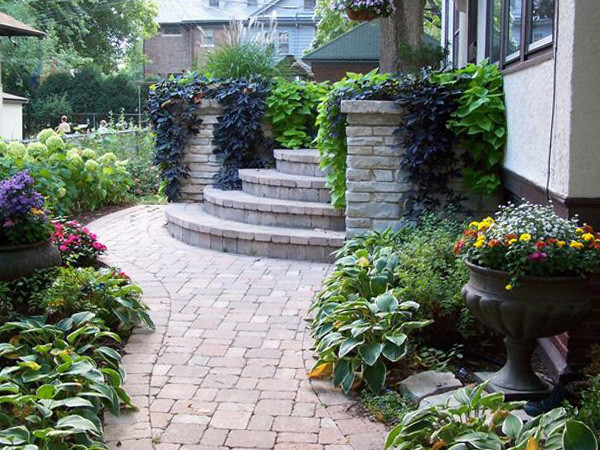 front entry traditional landscape chicago by