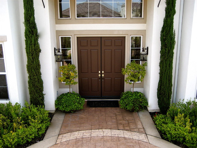 Exciting Italian Cypress Front Door Gallery Exterior Ideas 3d