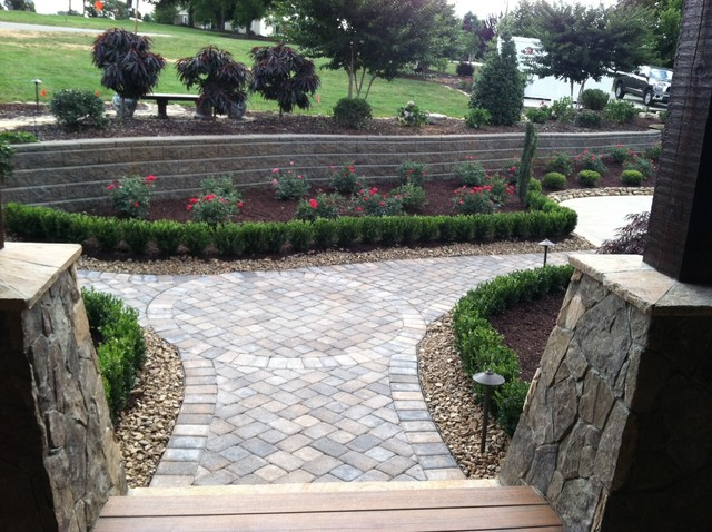 Front entry traditional landscape charlotte by for Passarelli custom homes
