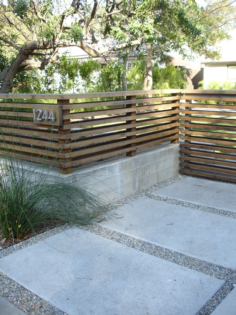 Front entry contemporary landscape los angeles by - Fence designs for front yards ...