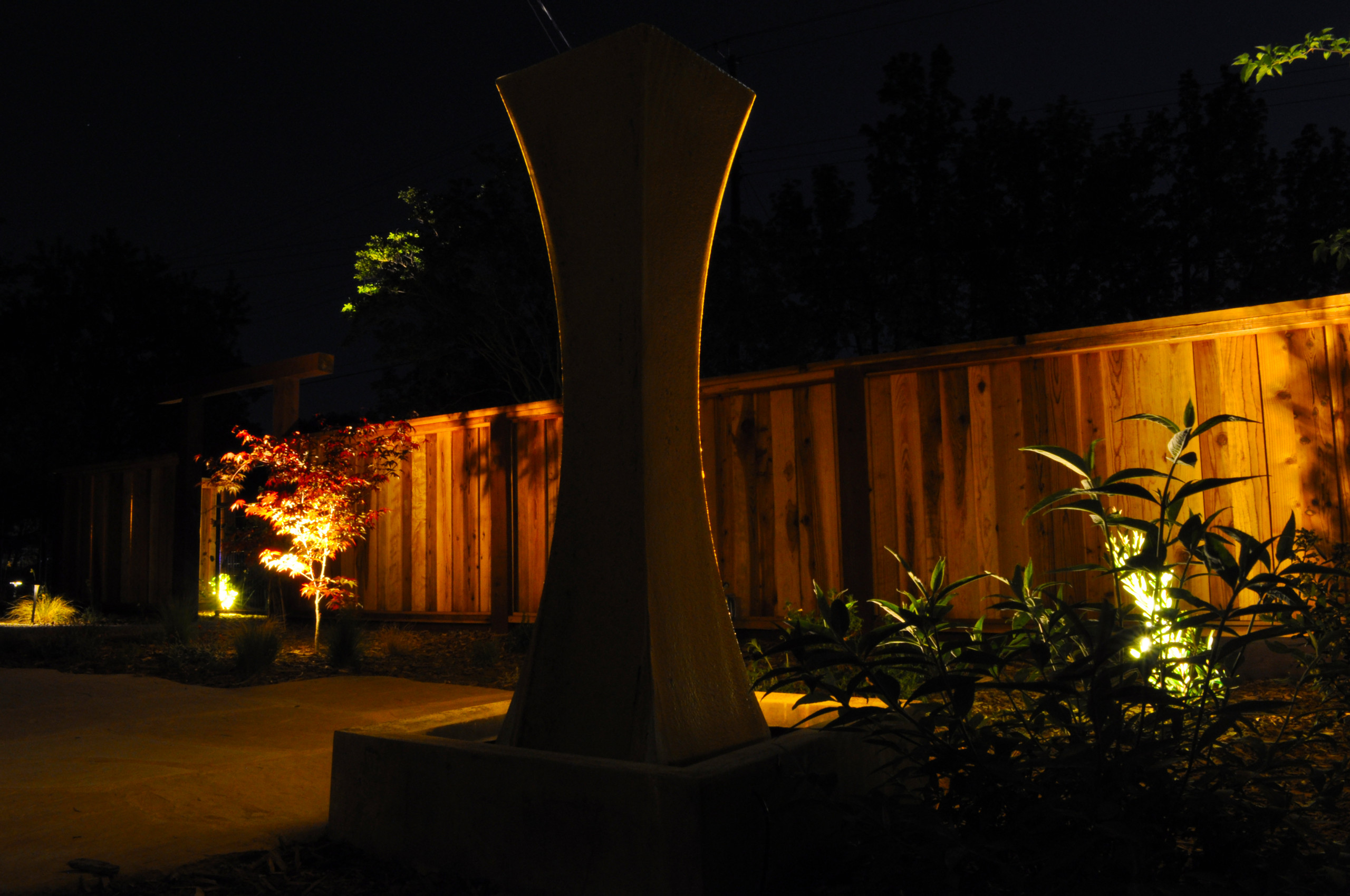 Front Garden Private Paradise- at Night