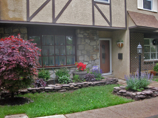 Front garden renovation NEW Curb Appeal Willow Grove PA - Traditional - Landscape - other metro ...