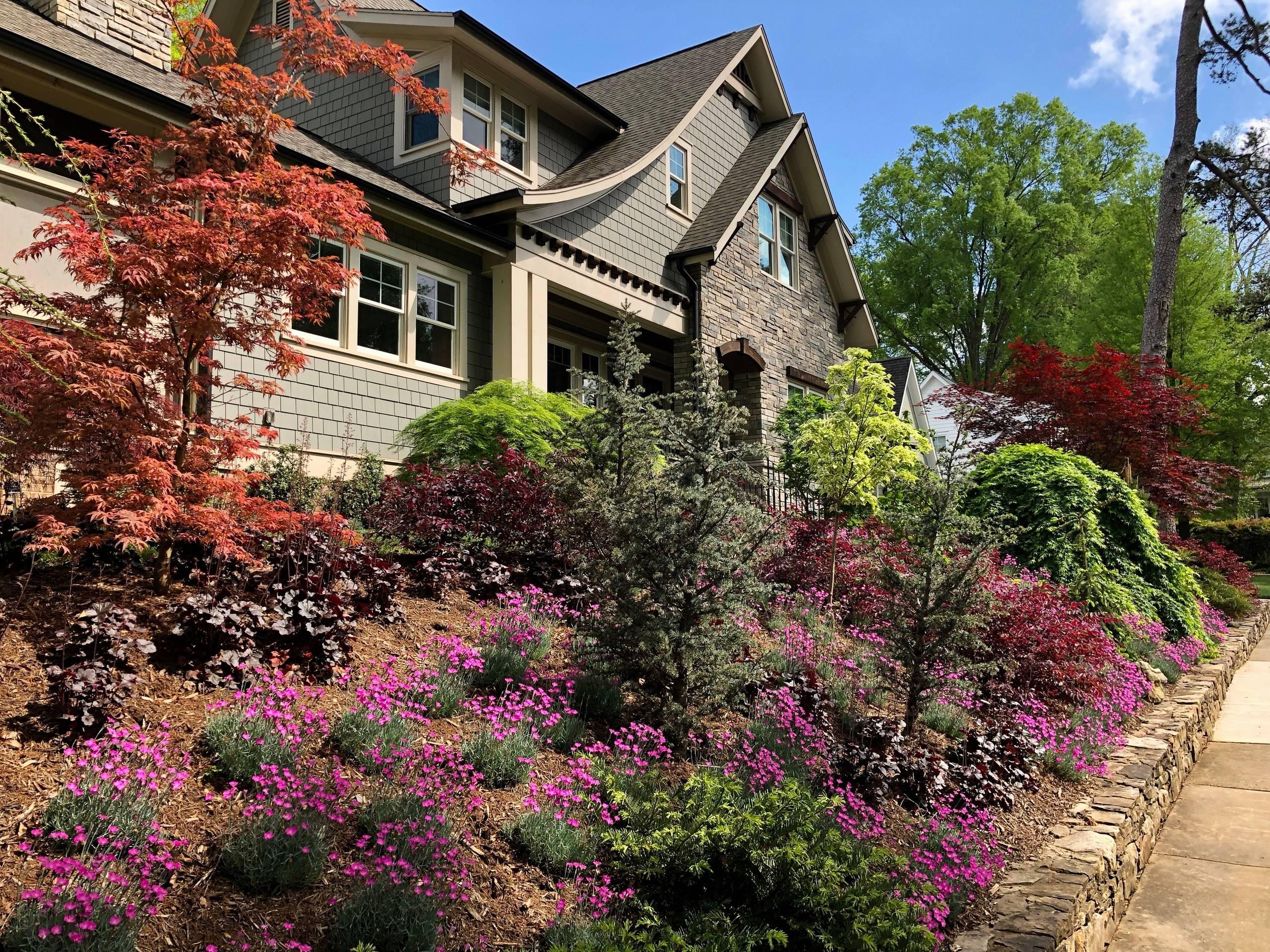 Front Hillside Garden.