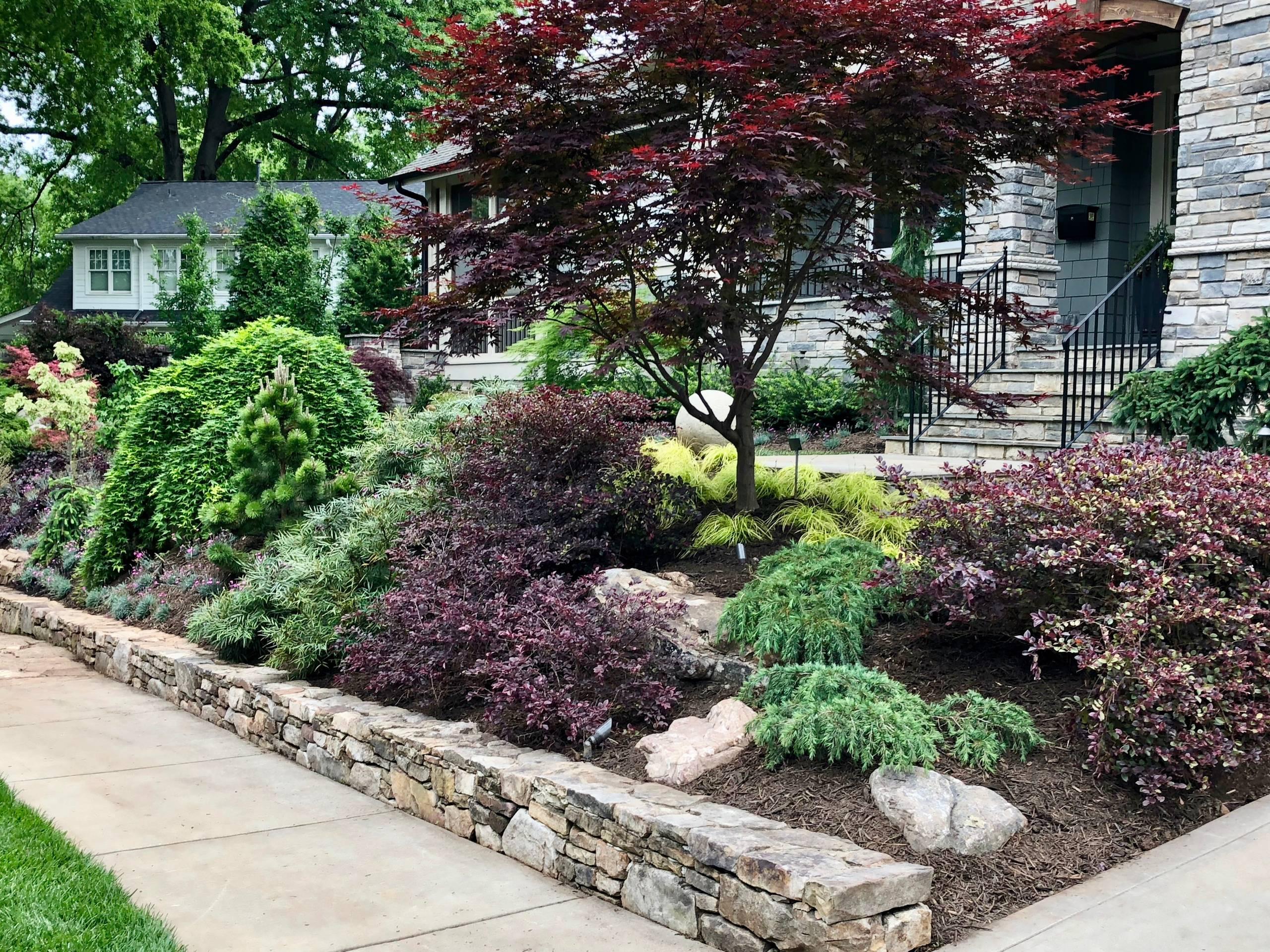 Front slope garden.