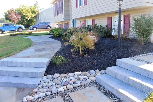 Front Walkway And Plantings In Frederick Maryland Garden Dc