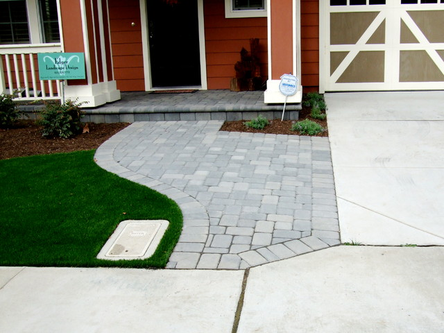Front Walkway Expansion traditional-landscape