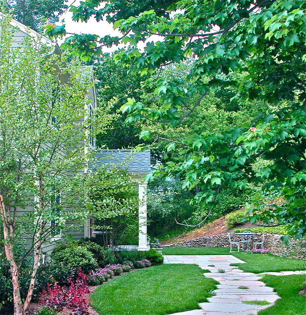 Front yard delight transitional landscape new york for Landscape design new york