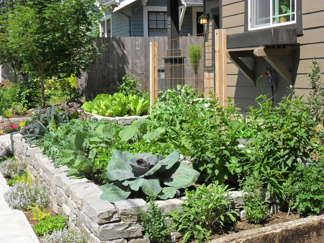 Front yard edible garden craftsman landscape for Edible garden designs