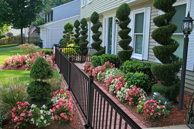 Garden Walk Buffalo Through The Garden Gates 6: Front-Yard Garden And Brick Walk With Black Railing