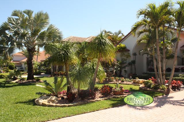Front Yard Landscape Tropical