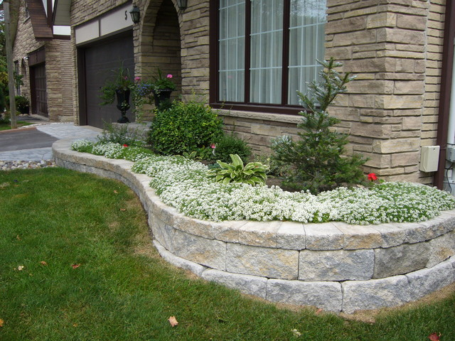 Front yard landscaping ideas contemporary landscape for Block wall landscape design