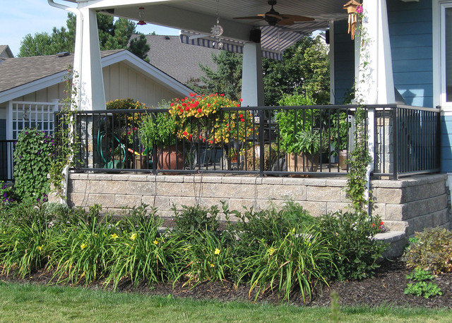Landscape Block Wall Systems : Front yard landscaping ideas contemporary landscape