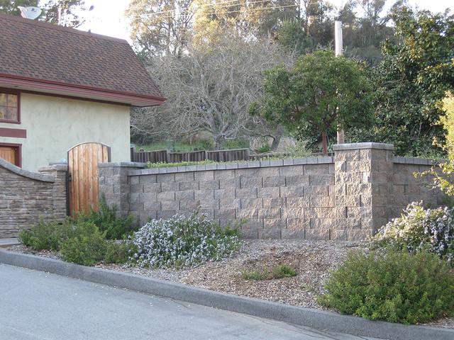 Front yard landscaping ideas contemporary garden for Garden block wall ideas