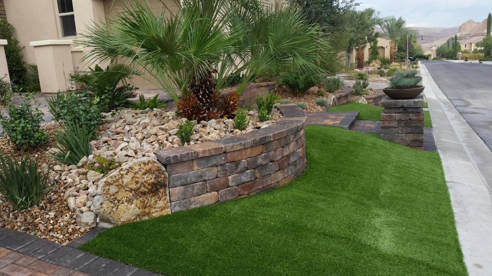 Front Yard Landscaping Mediterranean Landscape Las Vegas By Land View Landscape