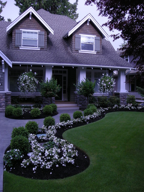 Front Yard Landscaping Make Over 1 - traditional - landscape ...