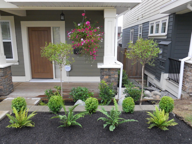 Front yard landscaping make over 2 contemporary for Front yard flower bed ideas