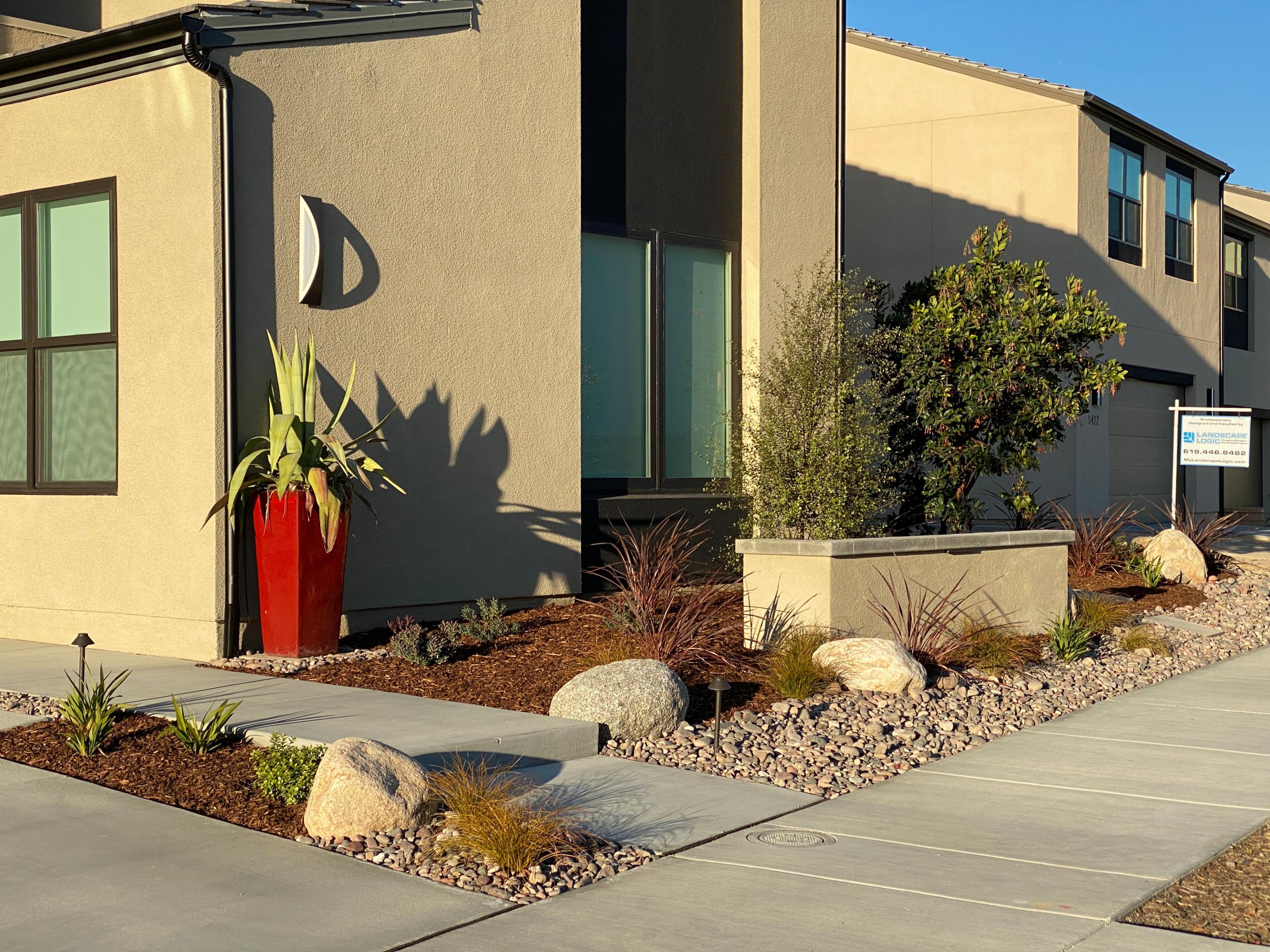 Front Yard Low Maintenance Garden Design