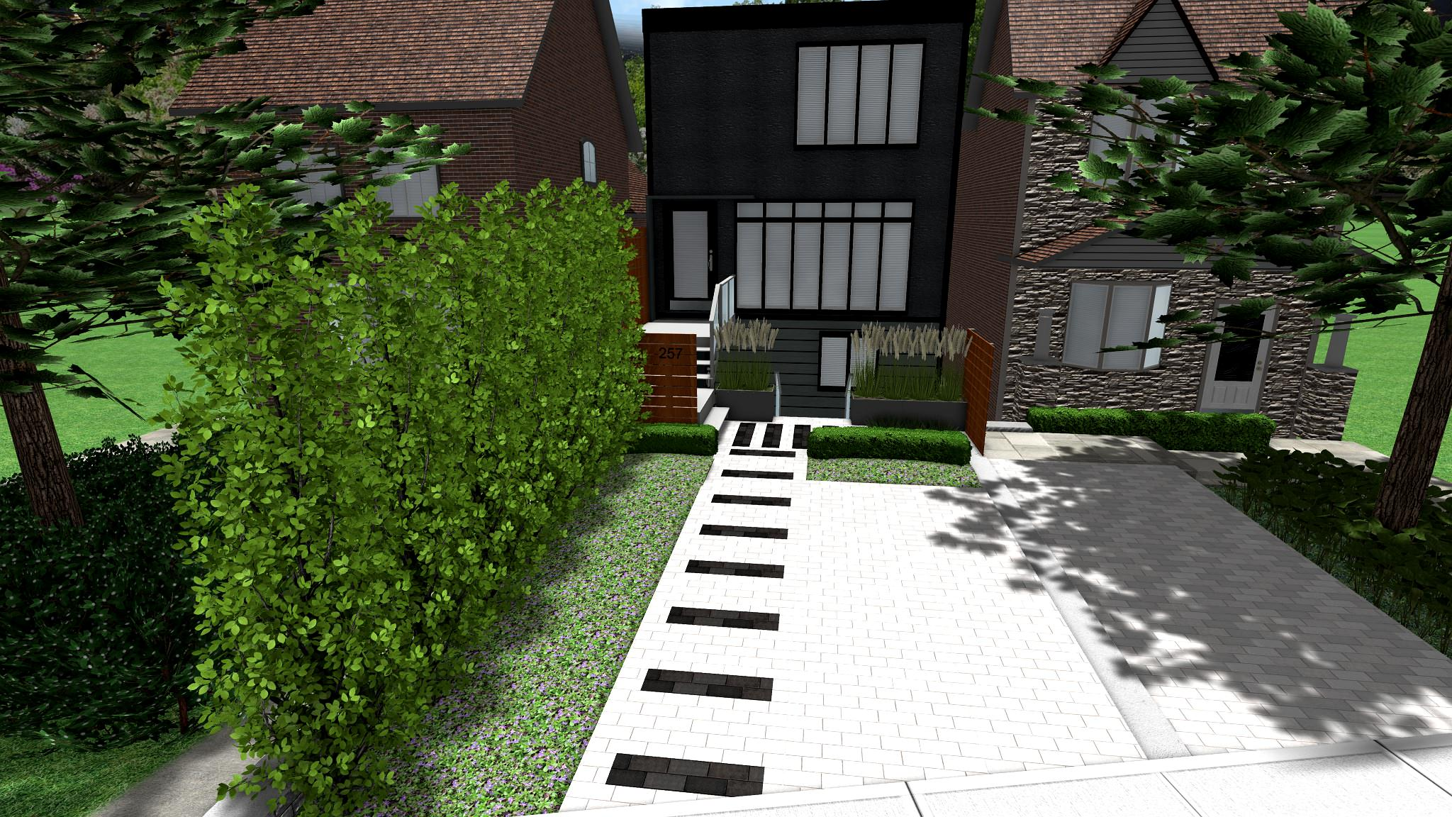 Front Yard Parking Makeover Contemporary Modern