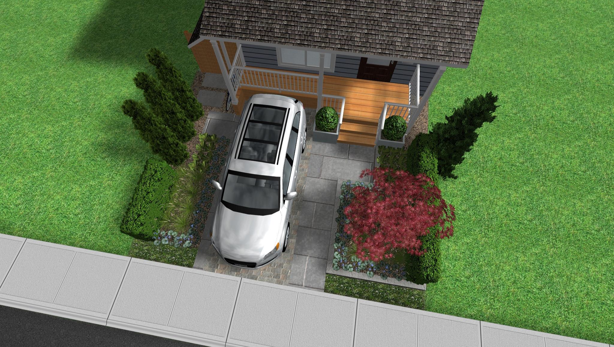 Front Yard Parking Makeover