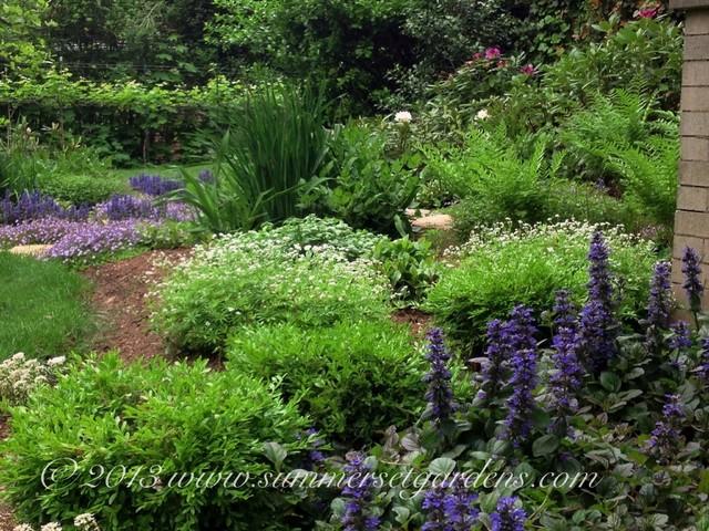 Front Yard Perennial Garden Design Traditional Garden Newark
