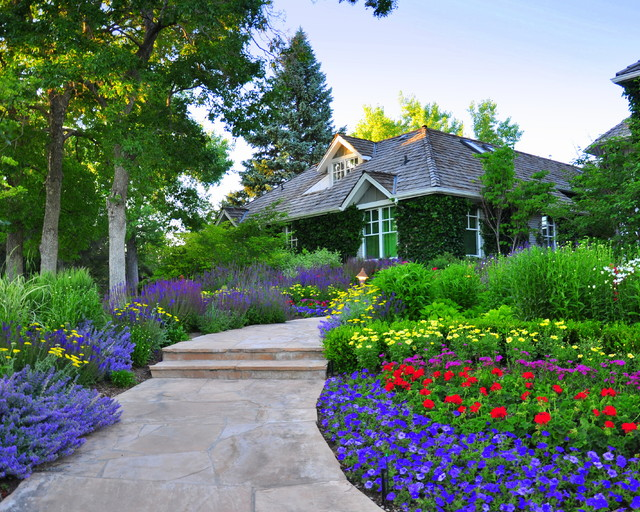 Front Yard Renovation Traditional Landscape Denver