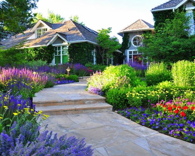 Traditional Home Garden Decor With Flower Designscapes Colorado Inc Landscape Architects Landscape Designers