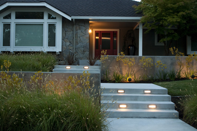 Modern front yard designs home decorating ideas for Modern landscaping ideas for front yard