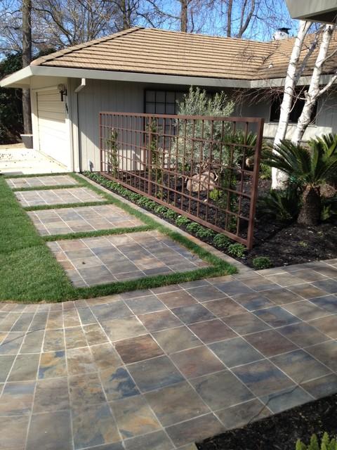 Front Yard Slate Tile