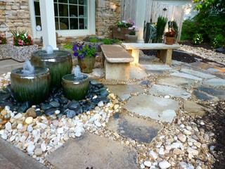 Front Yard Water Feature by Outdoor Makeover traditional-landscape