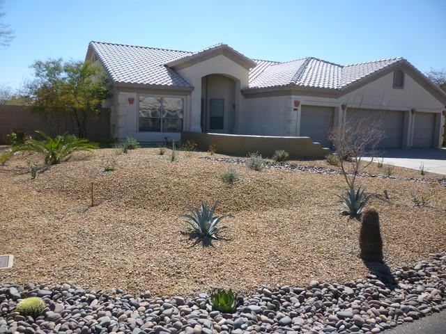 frontyard desert landscape contemporary landscape phoenix by mth design group. Black Bedroom Furniture Sets. Home Design Ideas