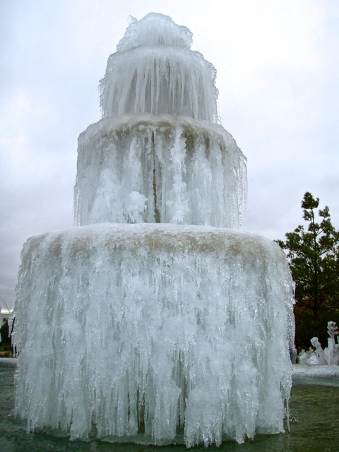 Frozen Granite Fountain traditional-outdoor-fountains-and-ponds
